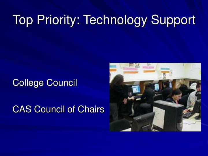 Top Priority: Technology Support