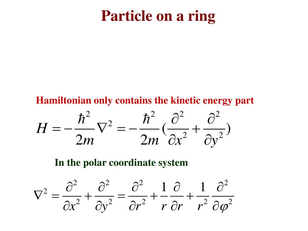 PPT - Chem 430 Particle on a ring 09/22/2011 PowerPoint