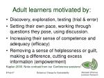 adult learners motivated by