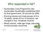 who responded in nz