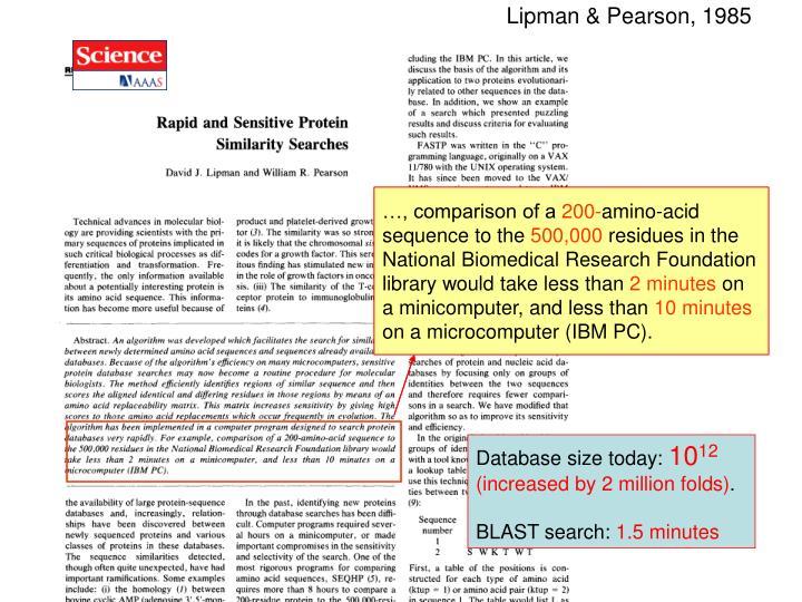 Lipman & Pearson, 1985