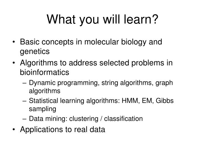 What you will learn?