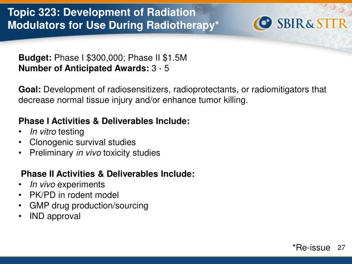 Topic 323: Development of Radiation Modulators for Use During Radiotherapy*