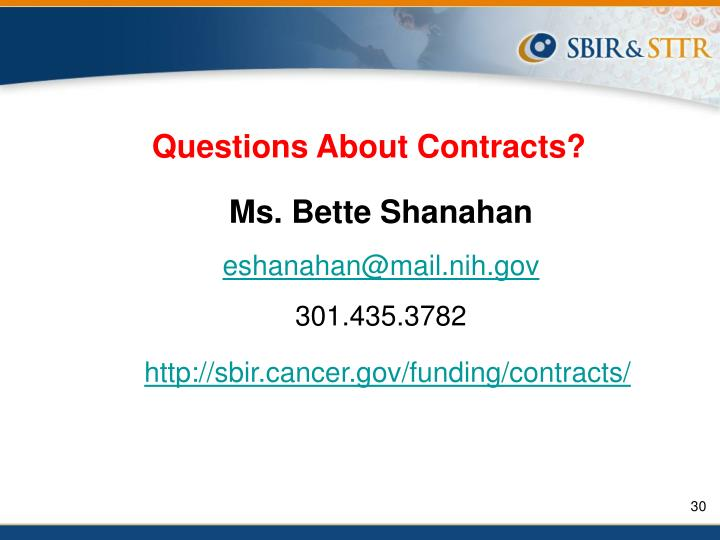 Questions About Contracts?