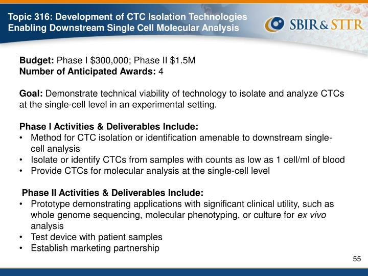 Topic 316: Development of CTC Isolation Technologies Enabling Downstream Single Cell Molecular Analysis