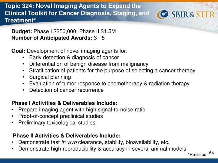 Topic 324: Novel Imaging Agents to Expand the Clinical Toolkit for Cancer Diagnosis, Staging, and Treatment*