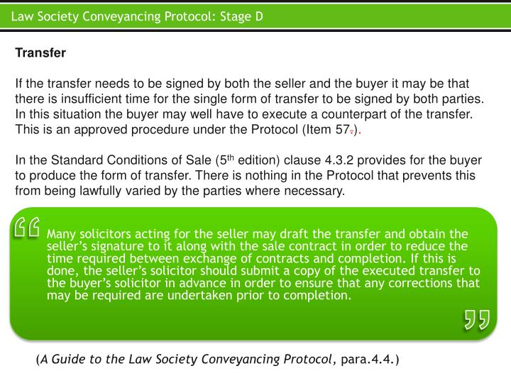 Law Society Conveyancing Protocol:
