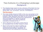 two cultures in a changing landscape background1