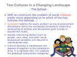 two cultures in a changing landscape the school5
