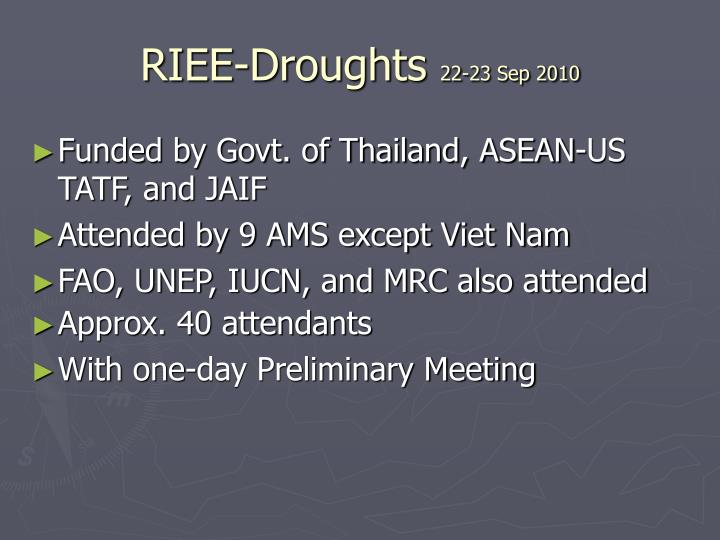 Riee droughts 22 23 sep 2010