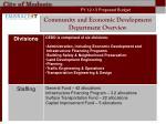 community and economic development department overview