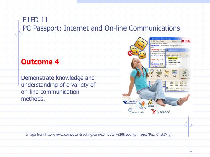 outcome 4 demonstrate knowledge and understanding of a variety of on line communication methods n.