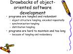 drawbacks of object oriented software development