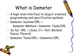 what is demeter