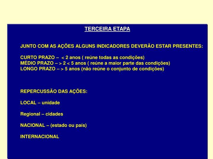 TERCEIRA ETAPA