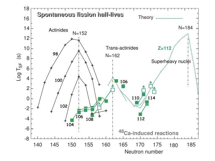 Spontaneous fission half-lives