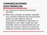 comunicaciones electr nicas