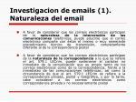 investigacion de emails 1 naturaleza del email