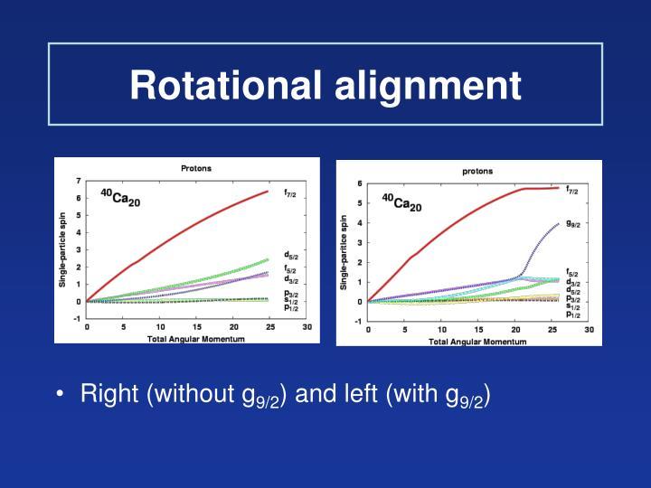 Rotational alignment