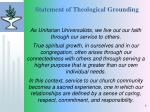 statement of theological grounding
