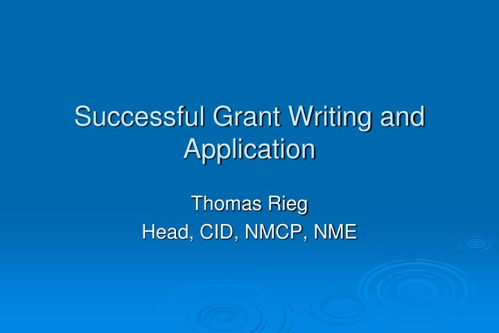 successful grant writing and application n.