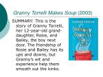granny torrelli makes soup 2003