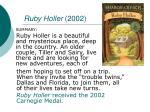 ruby holler 2002