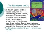 the wanderer 2001