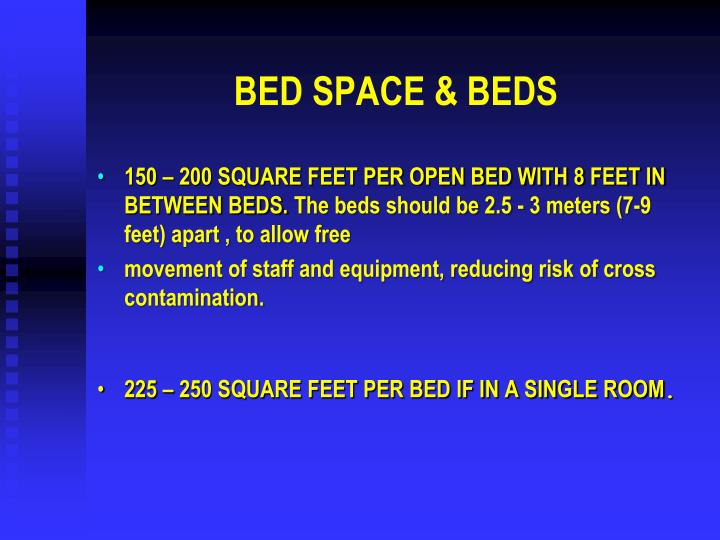 BED SPACE & BEDS