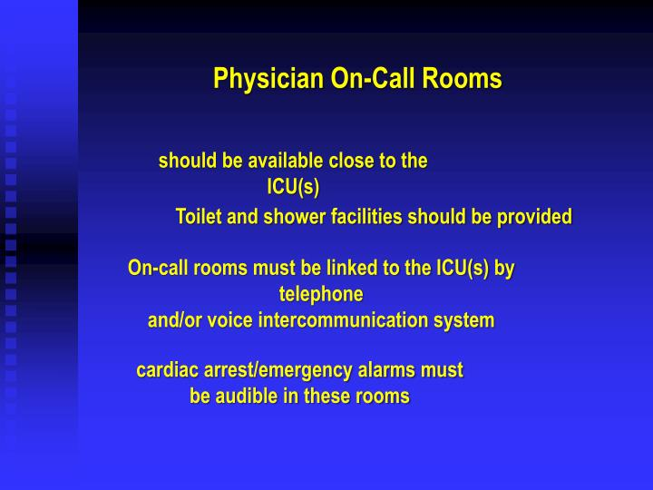 Physician On-Call Rooms