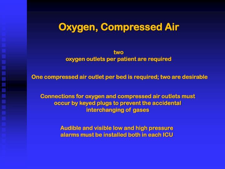 Oxygen, Compressed Air