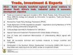 trade investment exports