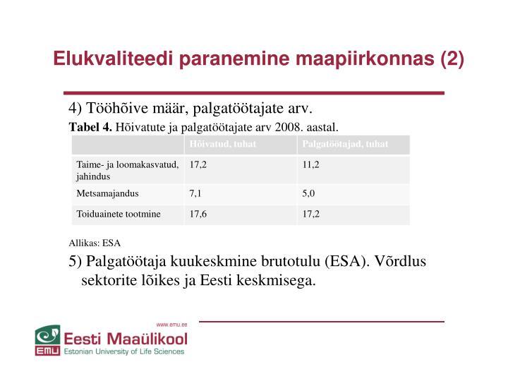 Elukvaliteedi paranemine maapiirkonnas (2)