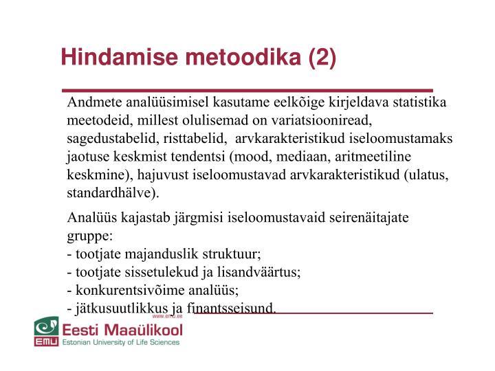 Hindamise metoodika (2)