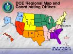 doe regional map and coordinating offices