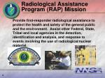radiological assistance program rap mission