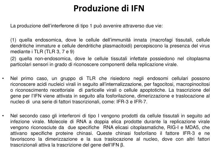 Produzione di IFN