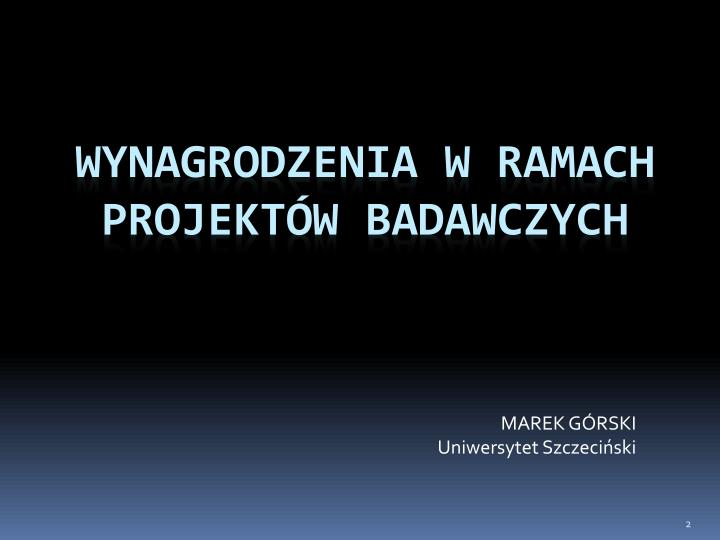 Marek g rski uniwersytet szczeci ski