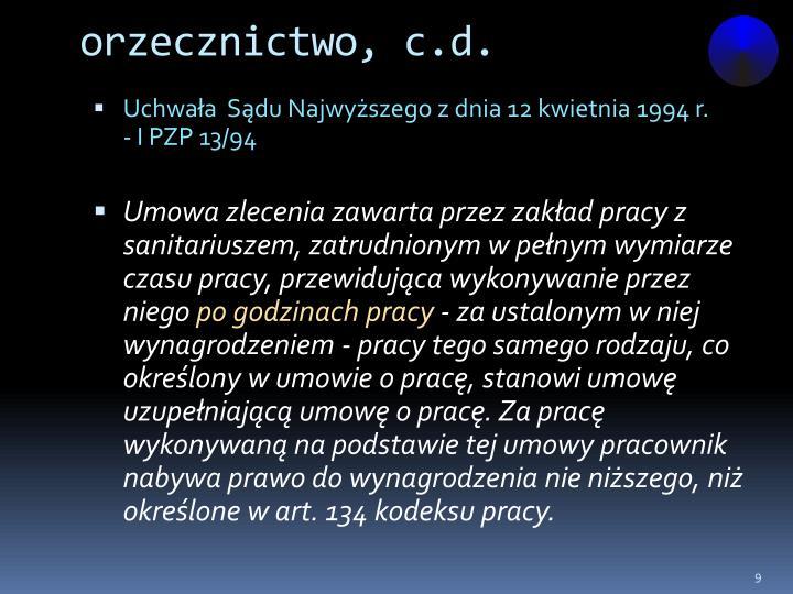 orzecznictwo, c.d.