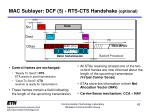mac sublayer dcf 5 rts cts handshake optional