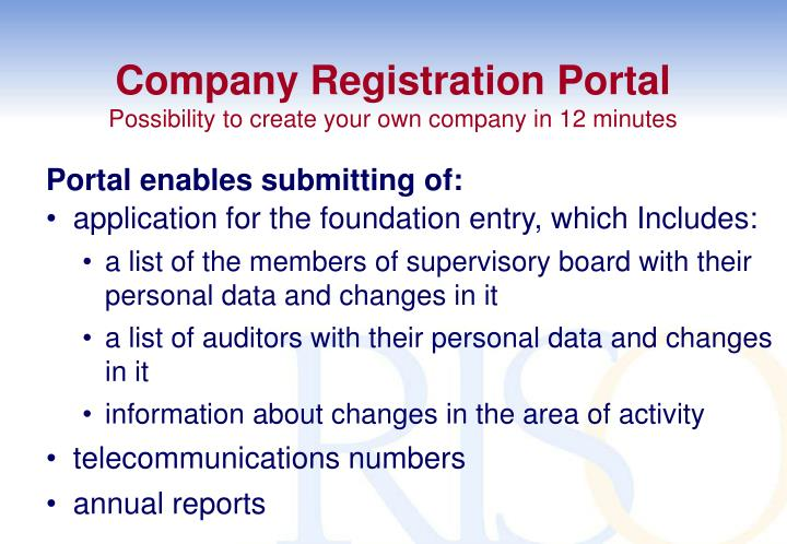 Company Registration Portal