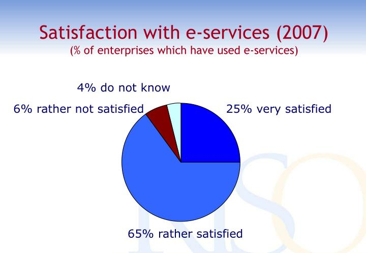 Satisfaction with e-services (2007)