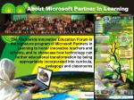 about microsoft partner in learning