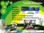 teacher activities