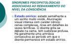 s ndromes psicopatol gicas associadas ao rebaixamento do n vel da consci ncia1