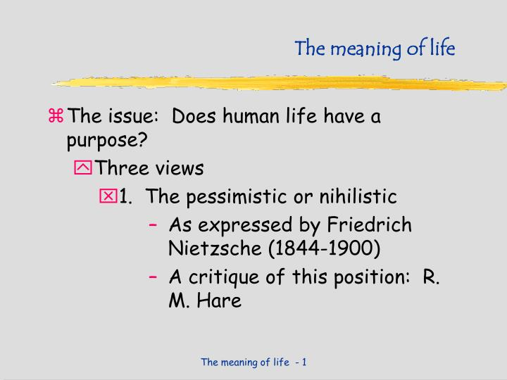 questioning the meaning of life essay To write a good essay about life one should be here's a sample essay about life written by one (see your educational institution's definition of plagiarism.