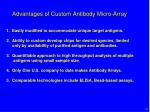 advantages of custom antibody micro array