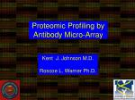 proteomic profiling by antibody micro array