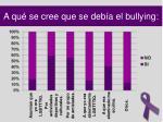 a qu se cree que se deb a el bullying