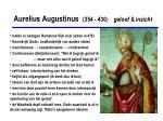 aurelius augustinus 354 430 geloof inzicht